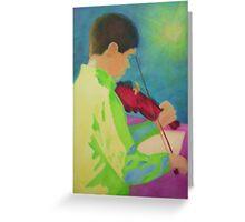 Violin Boy Greeting Card