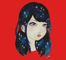 Starry-eyed in space  One Piece - Short Sleeve