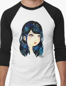 Starry-eyed in space  Men's Baseball ¾ T-Shirt