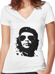 che guevara...the rebel years.... Women's Fitted V-Neck T-Shirt