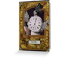 Time Flies Steampunk Birthday Card Greeting Card
