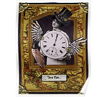 Time Flies Steampunk Birthday Card Poster