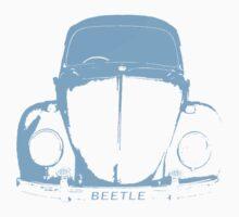 VW Beetle -  Light Blue One Piece - Short Sleeve