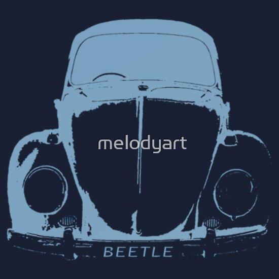 VW Bay (Early) Light Blue T-Shirts & Hoodies by Richard Yeomans