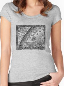 Flammarion Engraving Transparent Women's Fitted Scoop T-Shirt