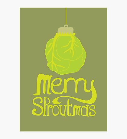 Merry Sproutmas Photographic Print