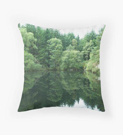 tillyfourie quarry Throw Pillow