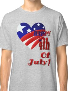 American Heart-4th of July Classic T-Shirt