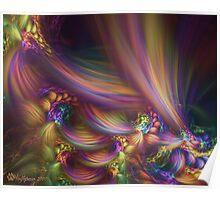 Pastel Horseshoe Swirls Poster