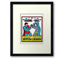 BRAWL IN THE HALL Framed Print