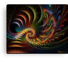 Spiral, Crackle, and Pop Canvas Print