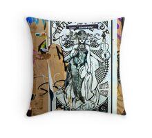 'Masquerade'- Graffiti Art Throw Pillow