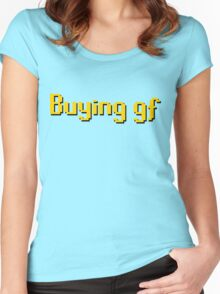 Buying gf, Old RuneScape Font Design Women's Fitted Scoop T-Shirt