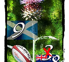 Ohhhh Flower of Scotland: Scotland 9 Vs Australia 8. Yipeeee. by DonDavisUK