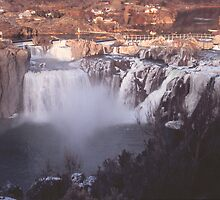 Shoshone Falls in Winter 2, Twin Falls, Idaho, USA by Forrest  Ray