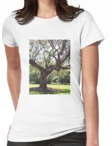 Oak Tree Womens Fitted T-Shirt