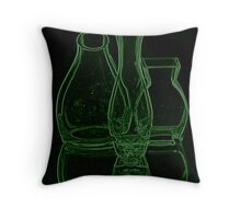 GREEN GLASS VASE Throw Pillow