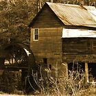 """""""Tumlin's Mill In Sepia"""" by franticflagwave"""