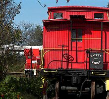 "'What's Not To Love About A Caboose"" by franticflagwave"