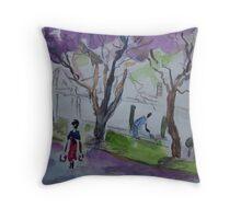 Jacarandas in Harare Throw Pillow