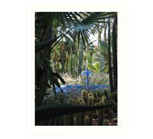 Blue fountain Art Print