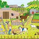 In the Farmyard  by Diana-Lee Saville