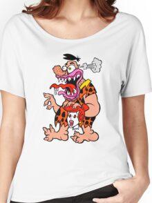 Freaked Out Flintstone Women's Relaxed Fit T-Shirt