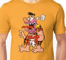 Freaked Out Flintstone Unisex T-Shirt