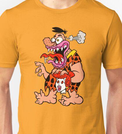 Freaked Out Flintstone Unisex T-Shirt