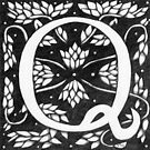 "Art Nouveau ""Q"" (William Morris inspired) by Donna Huntriss"