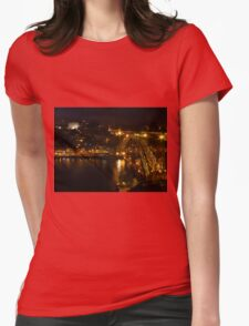 Ponte de Dom Luis 1 at Night Womens Fitted T-Shirt