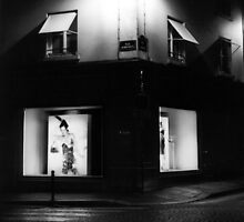 Paris Boutique at Night by Susan Chandler