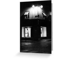 Paris Boutique at Night Greeting Card