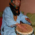 Moroccan Drum player at Ait Benhaddou by Christine Oakley