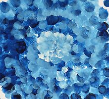 Blue Dream - Abstract Painting by andreaanderegg