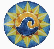 Mandala Tee, Hoodie, Sticker : Surf & Sun  by danita clark