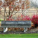 Inspirational Autumn Garden Bench by wiscbackroadz