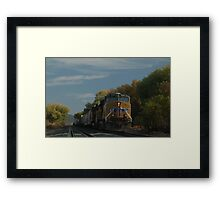 """"""" For Parts Unknown """". Framed Print"""