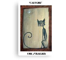 Dirk Strangely's CAT NOIRE Canvas Print