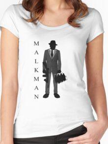 Malkman Logo Women's Fitted Scoop T-Shirt