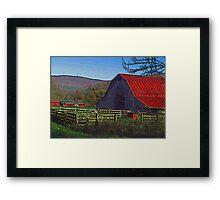Boxley Valley Farmstead Framed Print