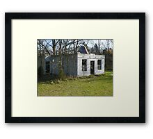 Haven Modern Motel Ruins Framed Print