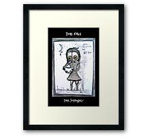 Dirk Strangely's DOLL FACE Framed Print