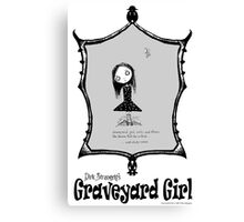 Dirk Strangely's GRAVEYARD GIRL Canvas Print