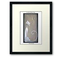 Dirk Strangely's LE CAT NOIRE EVE Framed Print