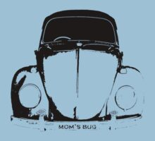 VW Beetle - Black mom's bug - personalized One Piece - Short Sleeve