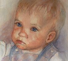 """Catherine""  Infants Portrait in watercolour by JayteesArt"