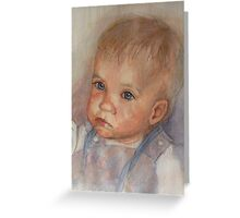 """Catherine""  Infants Portrait in watercolour Greeting Card"
