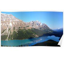 Peyto Lake panorama Poster