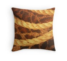 Three rope convergent Throw Pillow
